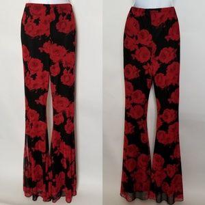 Floral Bell Bottom Pants